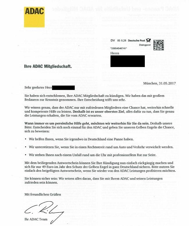 Adac Kündigen Kündigung Der Adac Mitgliedschaft